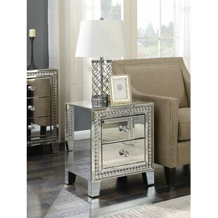 Badgley Side Table With Storage By Canora Grey