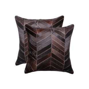 Milazzo Chevron Suede Throw Pillow (Set of 2)
