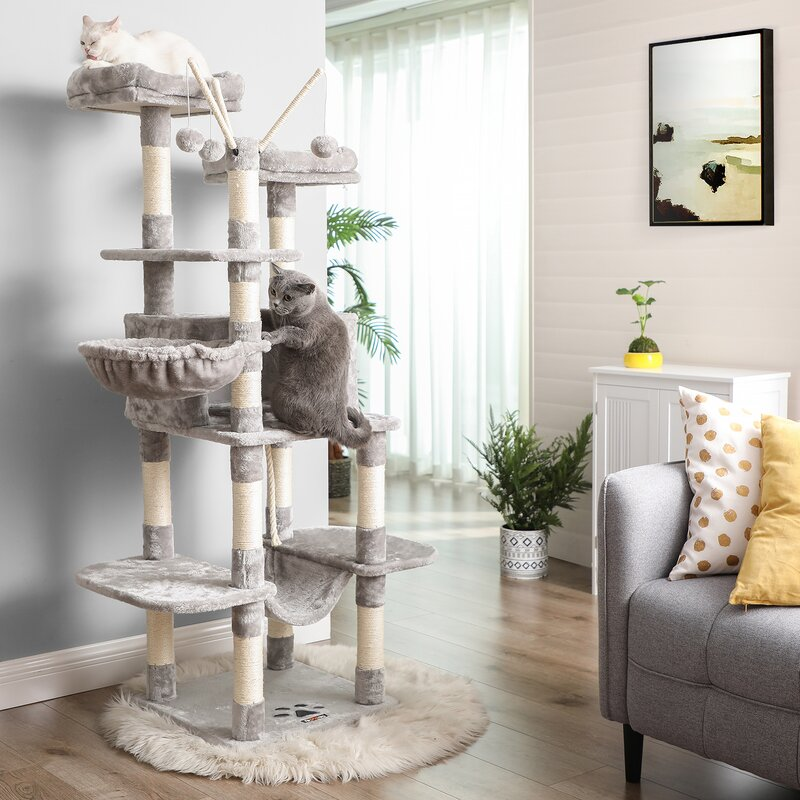 Tucker Murphy Pet 65 Mccusker Cat Condo Reviews Wayfair
