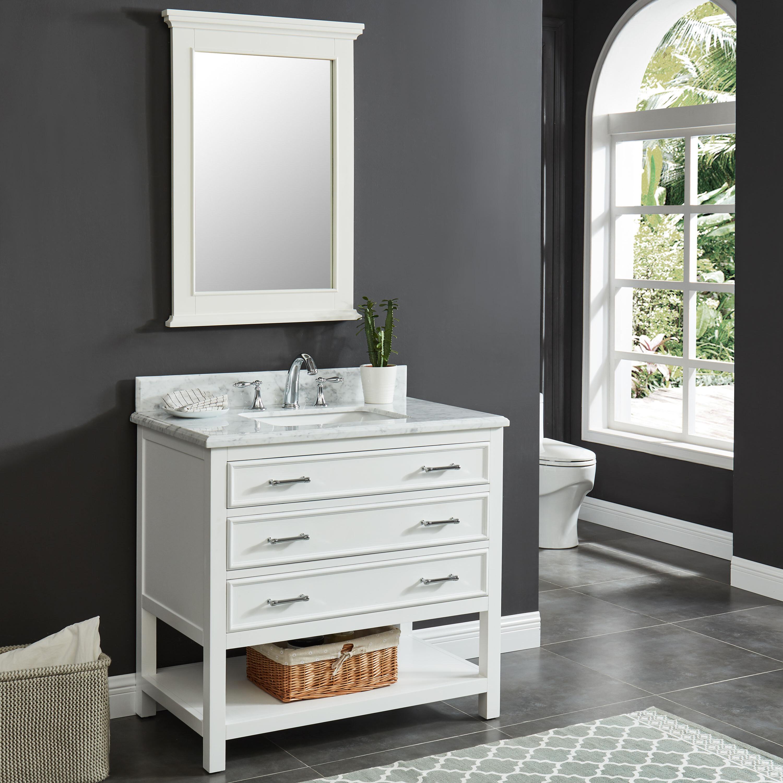 Breakwater Bay Pamula 37 Single Bathroom Vanity Set Reviews Wayfair