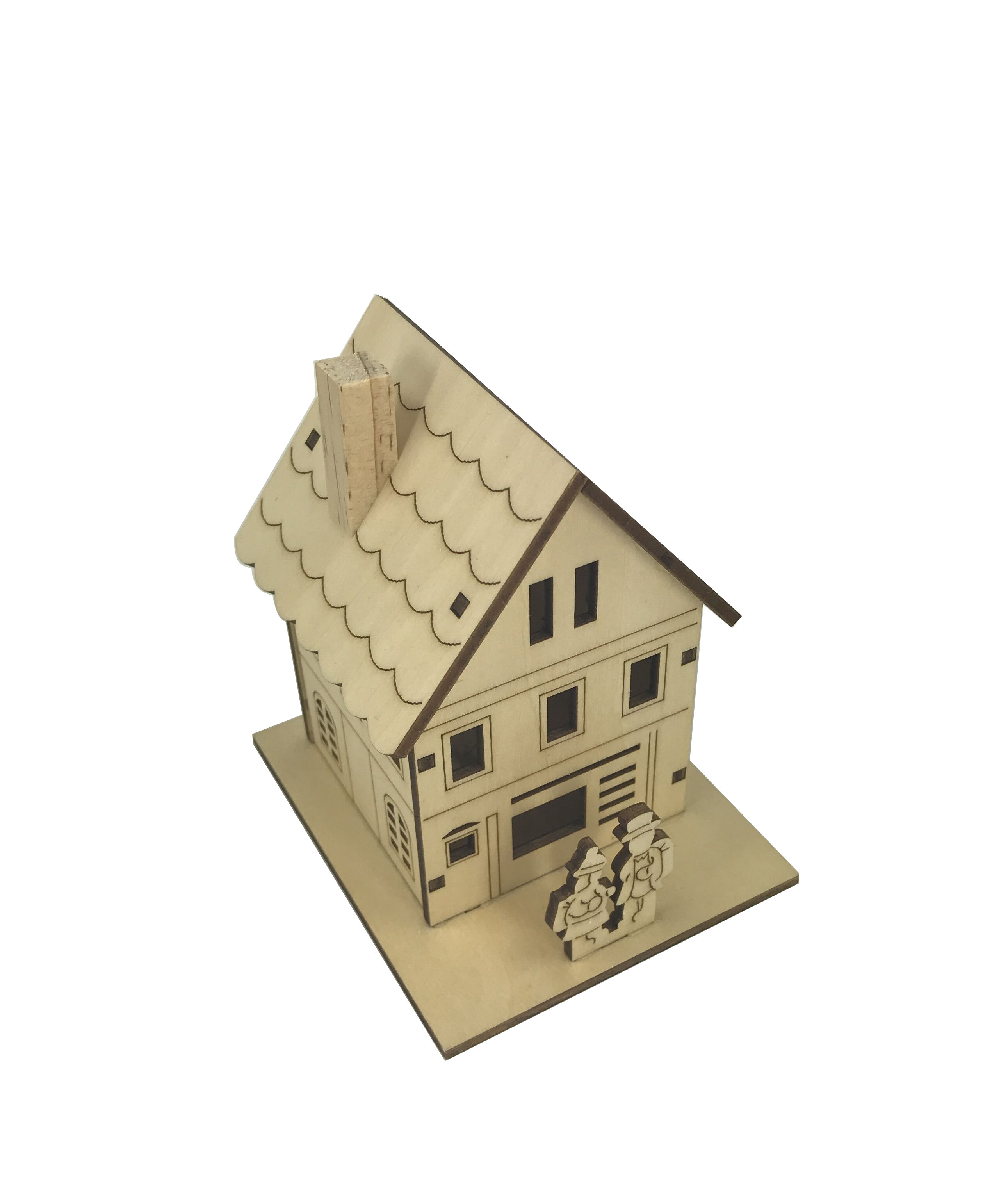 The Holiday Aisle Decorative Plywood Small House With Lights Wayfair