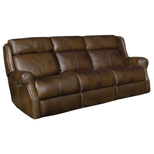 McGwire Leather Reclining Sofa by Bernhardt