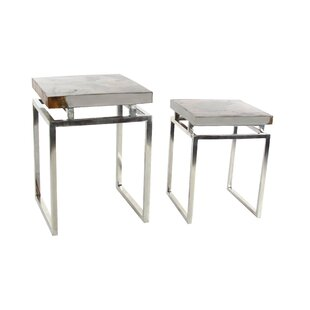 Cole & Grey 2 Piece End Table Set