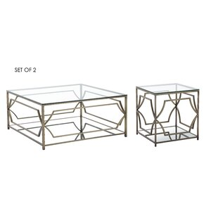 Cormac 2 Piece Coffee Table Set Mercer41