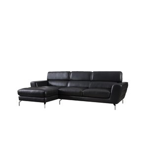 Greysen Leather Sectional by Orren Ellis Cheap