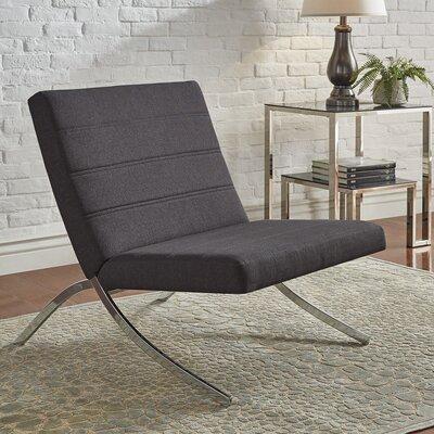 Balderas Linen Lounge Chair With Metal Leg