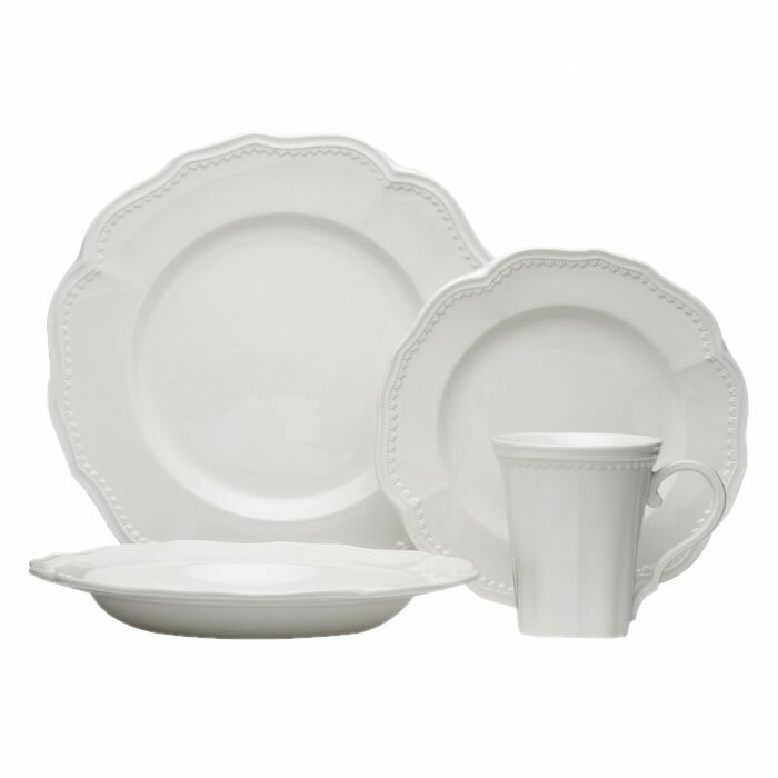 Classic White 16 Piece Dinnerware Set Service for 4  sc 1 st  Wayfair & Red Vanilla Classic White 16 Piece Dinnerware Set Service for 4 ...
