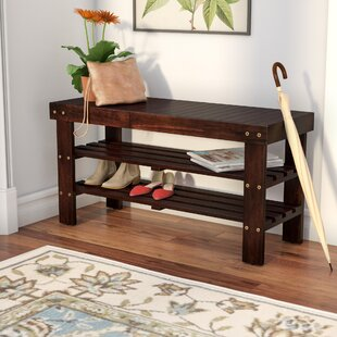 Andover Mills Theiss Wood Storage Bench