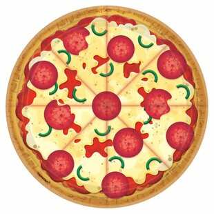 Pizza Party Paper Disposable Dessert Plate (Set of 40)