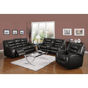 Tindley Reclining Motion 3 Piece Living Room Set by