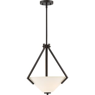 Ebern Designs Naccarato 2-Light Bowl Pendant