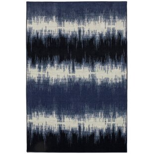 Guide to buy Ranstead Navy/White Area Rug By Bungalow Rose