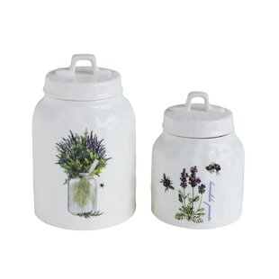 Lavender and Bees 1.5 qt. Kitchen Canister