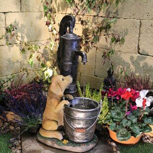 Puppy Fountain Resin Water Feature With Light By Sol 72 Outdoor