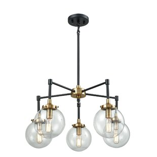 Wade Logan Monaca 5-Light Shaded Chandelier