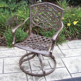 Mississippi Cast Aluminum Swivel Rocking Chair