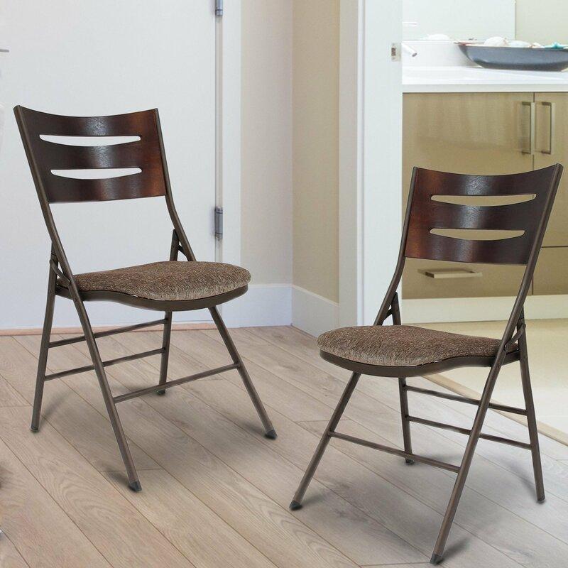 Tubular Fabric Padded Folding Chair