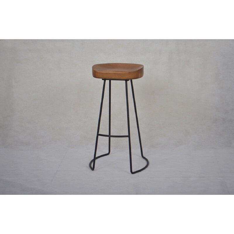 Williston Forge Amatia Solid Wood Counter Stool Wayfair