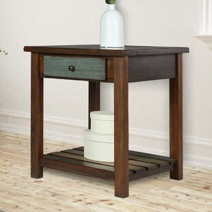 Roemer End Table with Storage by Bloomsbury Market