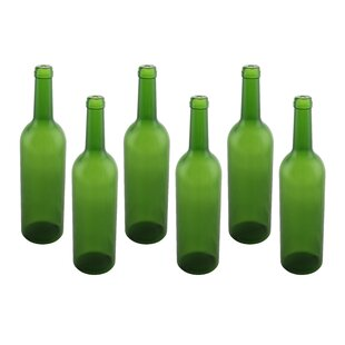 Plastic Wine Bottle Empty Display (Set of 6)