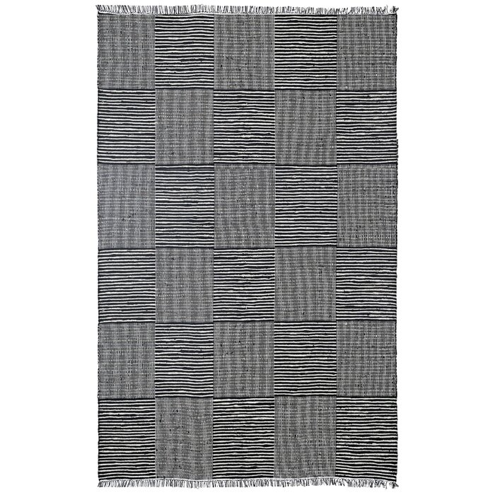 Synthia Hand Loomed Black Area Rug