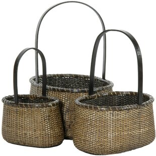 Rattan Baskets (Set of 3) by Oriental Furniture