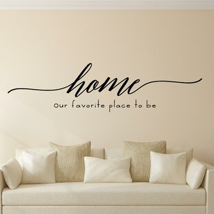 Home Our Favorite Place To Be Vinyl Wall Decal