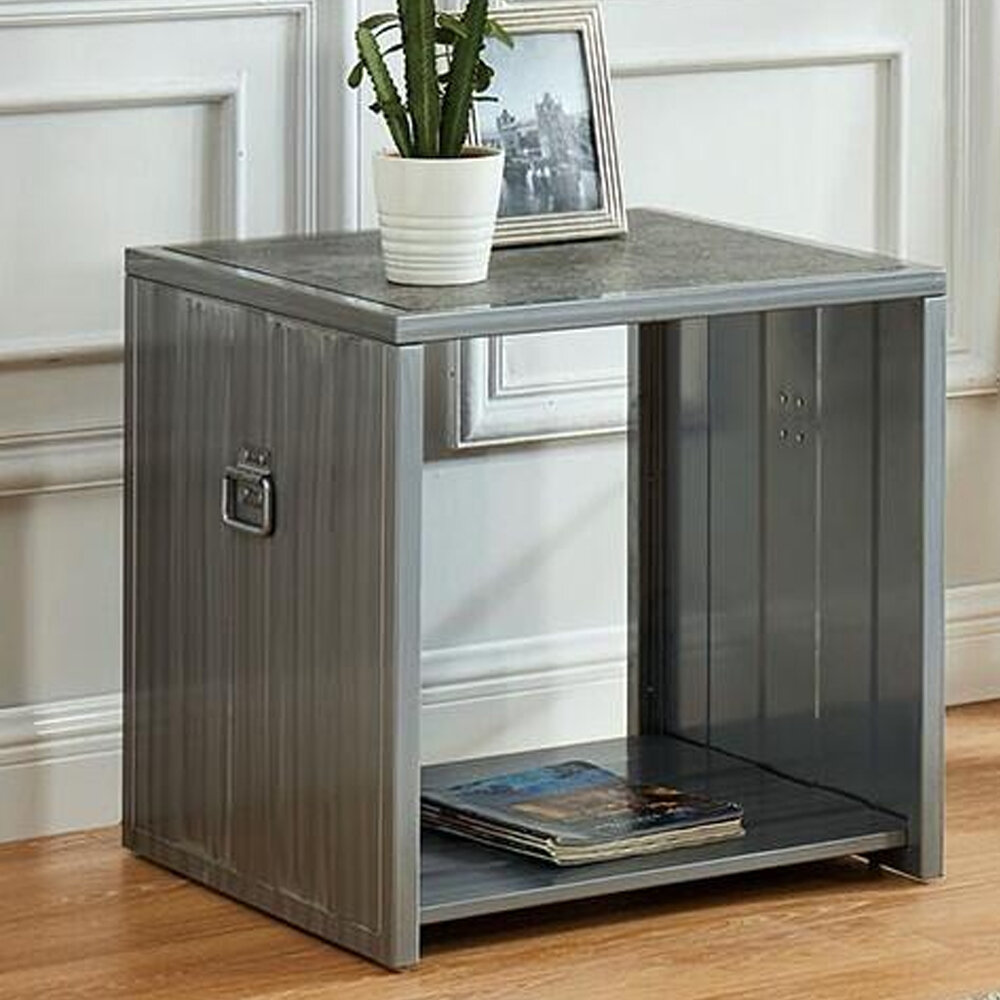 17 Stories Mcglynn Sled End Table With Storage Wayfair