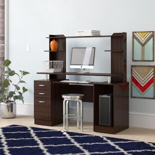 Bengal Work Center Computer Desk with Hutch