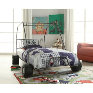 Ketter Metal Go Kart Style Twin Car Bed