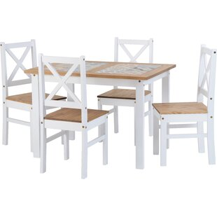 Cockerham Dining Set With 4 Chairs By Brambly Cottage