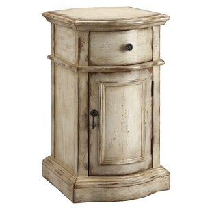 One Allium Way Attwood Hand Painted 1 Drawer Chairside Accent Cabinet