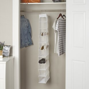 Deals Wayfair Basics 10 Pair Plastic Hanging Shoe Organizer ByWayfair Basics™