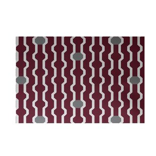 Shop For Uresti Decorative Holiday Geometric Print Cranberry Burgundy Indoor/Outdoor Area Rug By Wrought Studio