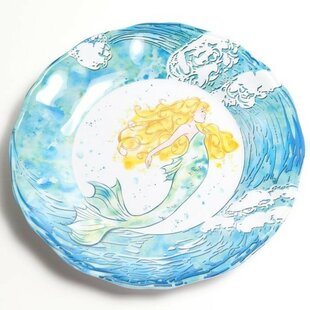 Yacht and Home 11 Mermaid Melamine Non-Skid Dinner Plate (Set of 6) By Galleyware Company