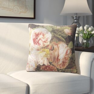 Lebaron Rose Mallow Cotton Throw Pillow
