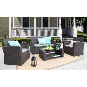 Charmain 4 Piece Sofa Set with Cushions