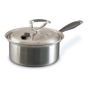 Tri-Ply 3 qt. Stainless Steel Sauce Pan with Lid
