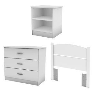 Libra Panel 3 Piece Bedroom Set by South Shore