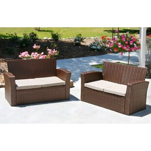 Hope Rattan Loveseat (Set of 2)