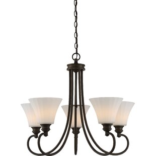 Charlton Home Eich 5-Light LED Shaded Chandelier