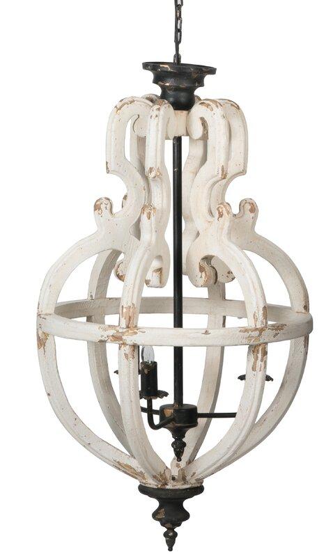 Ophelia & Co. Bennet 4 - Light Unique / Statement Globe Chandelier