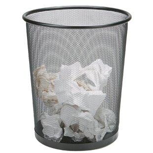 Mind Reader Garbage Recycling Round Metal Open Waste Basket