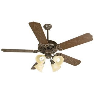 Compare prices 52 Mortensen 5 Blade Traditional Outdoor Ceiling Fan By Alcott Hill
