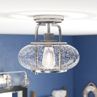 Braxton 1-Light Semi Flush Mount by Beachcrest Home
