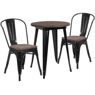 Priceville 3 Piece Solid Wood Dining Set by Williston Forge Discount