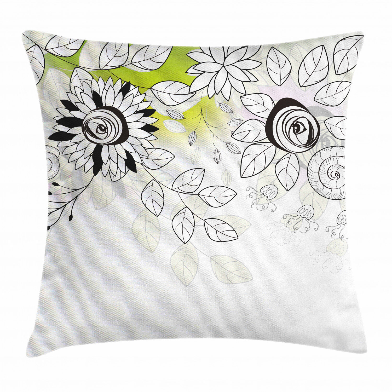 East Urban Home Floral Indoor Outdoor 40 Throw Pillow Cover Wayfair