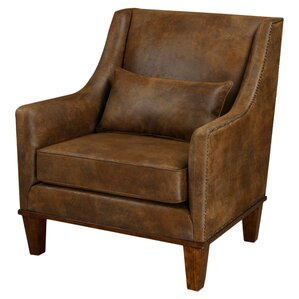 Clay Leather Armchair by Uttermost