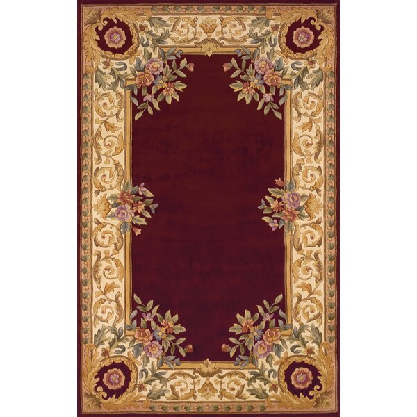 Wenger Hand Tufted Wool Red Beige Area Rug
