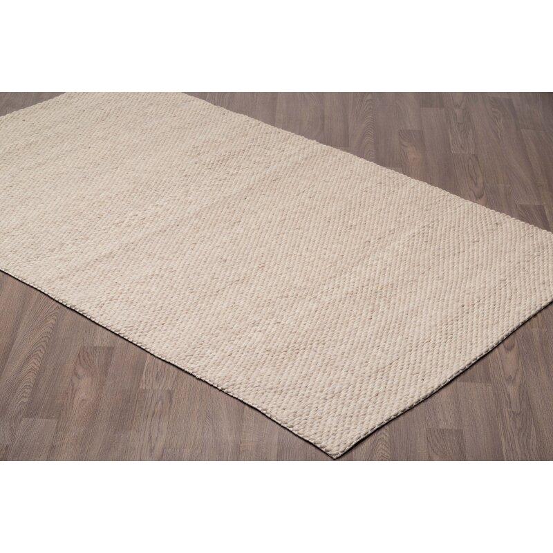 Gracie Oaks Lamere Handmade Tufted Wool Ivory Beige Area Rug Reviews Wayfair